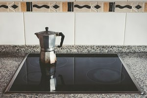 Italian coffee in a kitchen