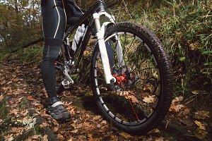 Mountain bike bicycle detail