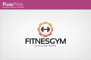 Fitnes Gym Logo Template