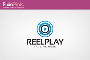 Reel Play Logo Template