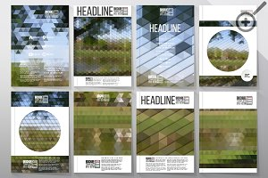 Set of 40 templates for brochure