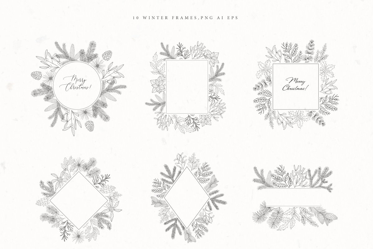 Christmas Time. Winter Bouquets. in Illustrations - product preview 1