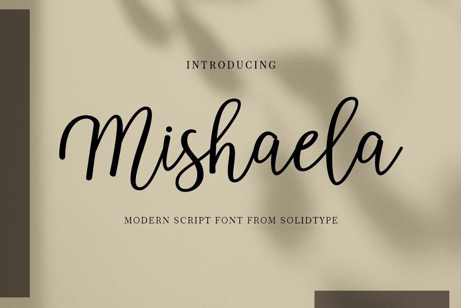 Best Mishaela Script Vector