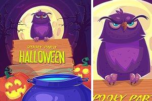 Halloween cardposter (vector)
