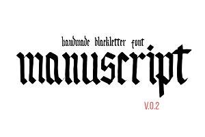 Handmade blackletter font