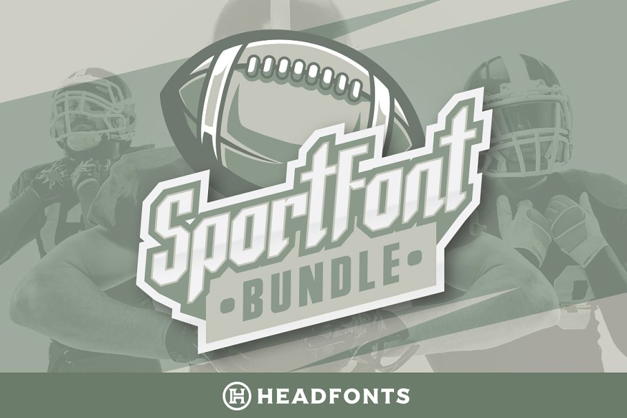 Sport Font Bundle Modern Paired Duo