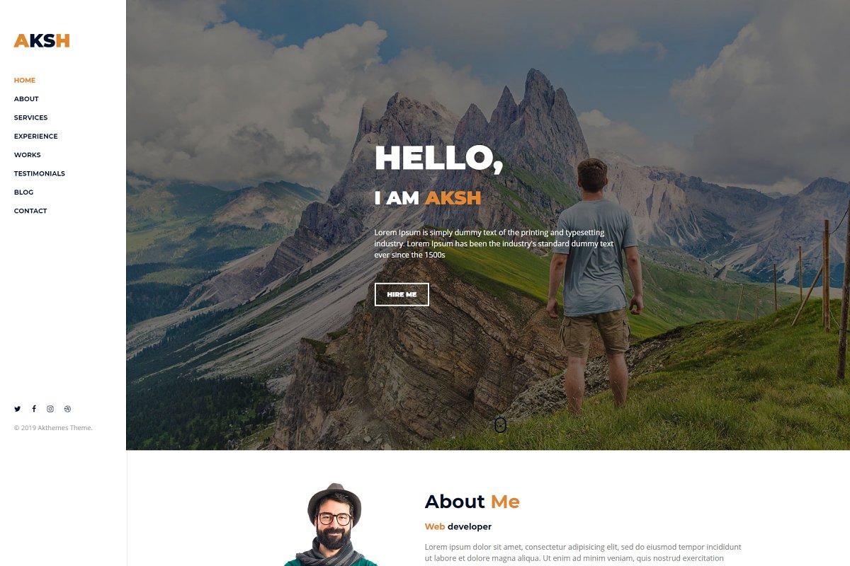 Aksh – Personal Portfolio Template