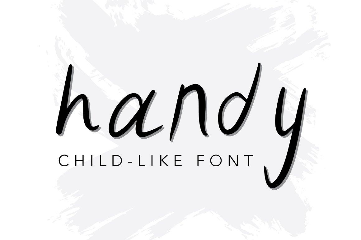 Handy | Hand Written Font