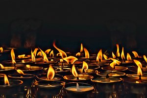 Prayer Candles in Nepal
