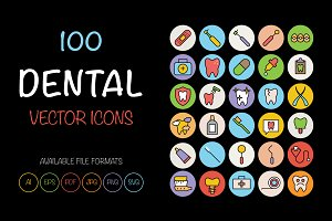 100 Dental Icons