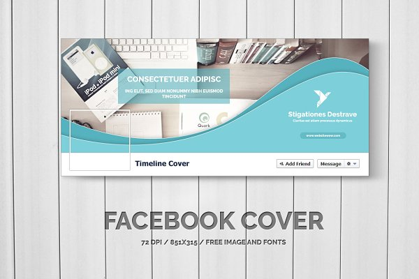 Facebook Templates: Creative Shop - Facebook Timeline Cover