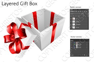 Layered Gift Box Illustration