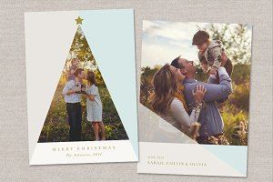 Christmas Tree Photo Card Template