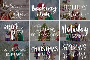 Holiday Minis - photo overlays