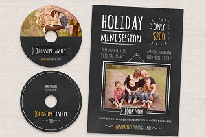 Holiday Minis Flyer + cd labels