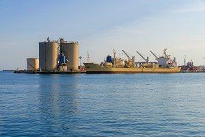 Cement cargo ship