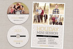 Holiday Mini Session Flyer cd labels