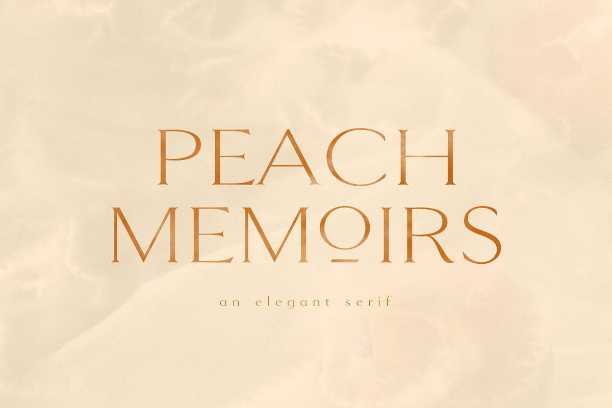 PEACH MEMOIRS | ELEGANT SERIF