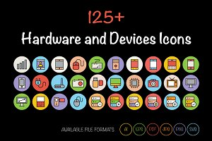 125+ Hardware and Devices Icons