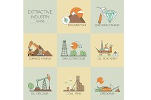 Extractive industry icons