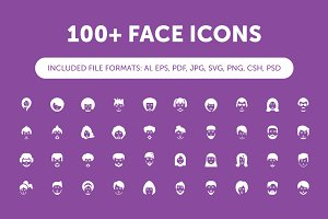 100+ Face Icons