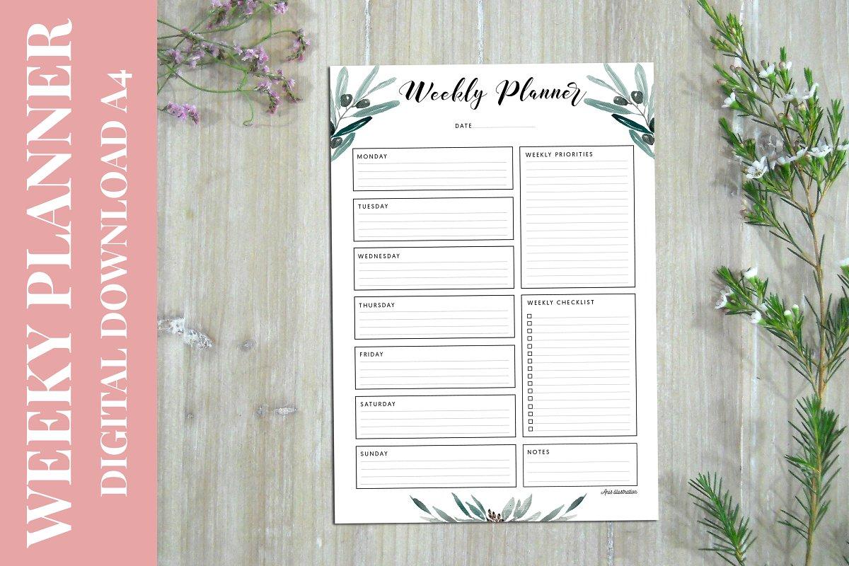 Weekly Planner PRINTABLE A4
