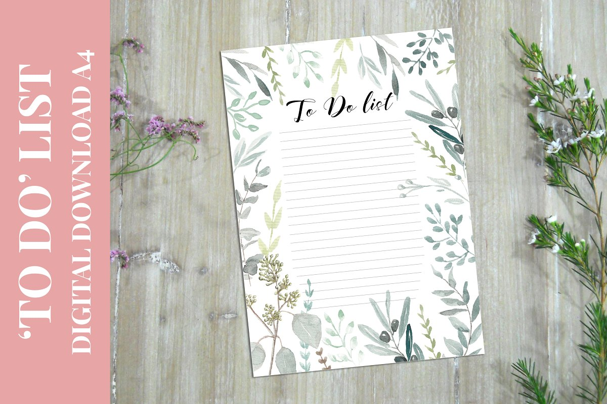 To Do List Planner A4 format