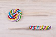 Multicolored lollipop