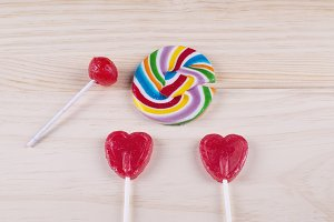Heart-shaped lollipop,