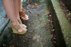 Shoes Photoshoot in Urban Area