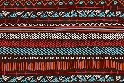 Boho seamless pattern tribal stripes