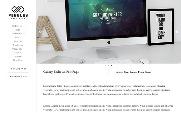 Friday Photoshop Blogging Other Pebble >> Pebbles Responsive Blogger Template