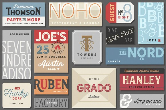 Hanley Font Collection in Script Fonts - product preview 29