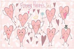 Funny hearts.