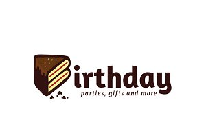 Birthday Cake Logo Template