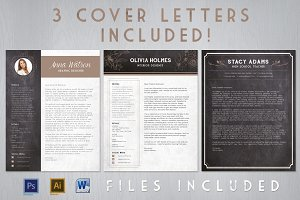 Chalk Resume Cover Letter Bundle