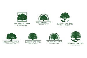 Green Oak Tree Logo vol 1