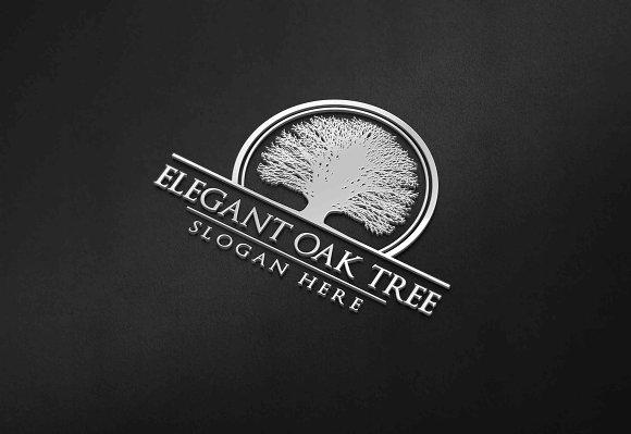 Green Oak Tree Logo Vol 1 Templates Creative Market