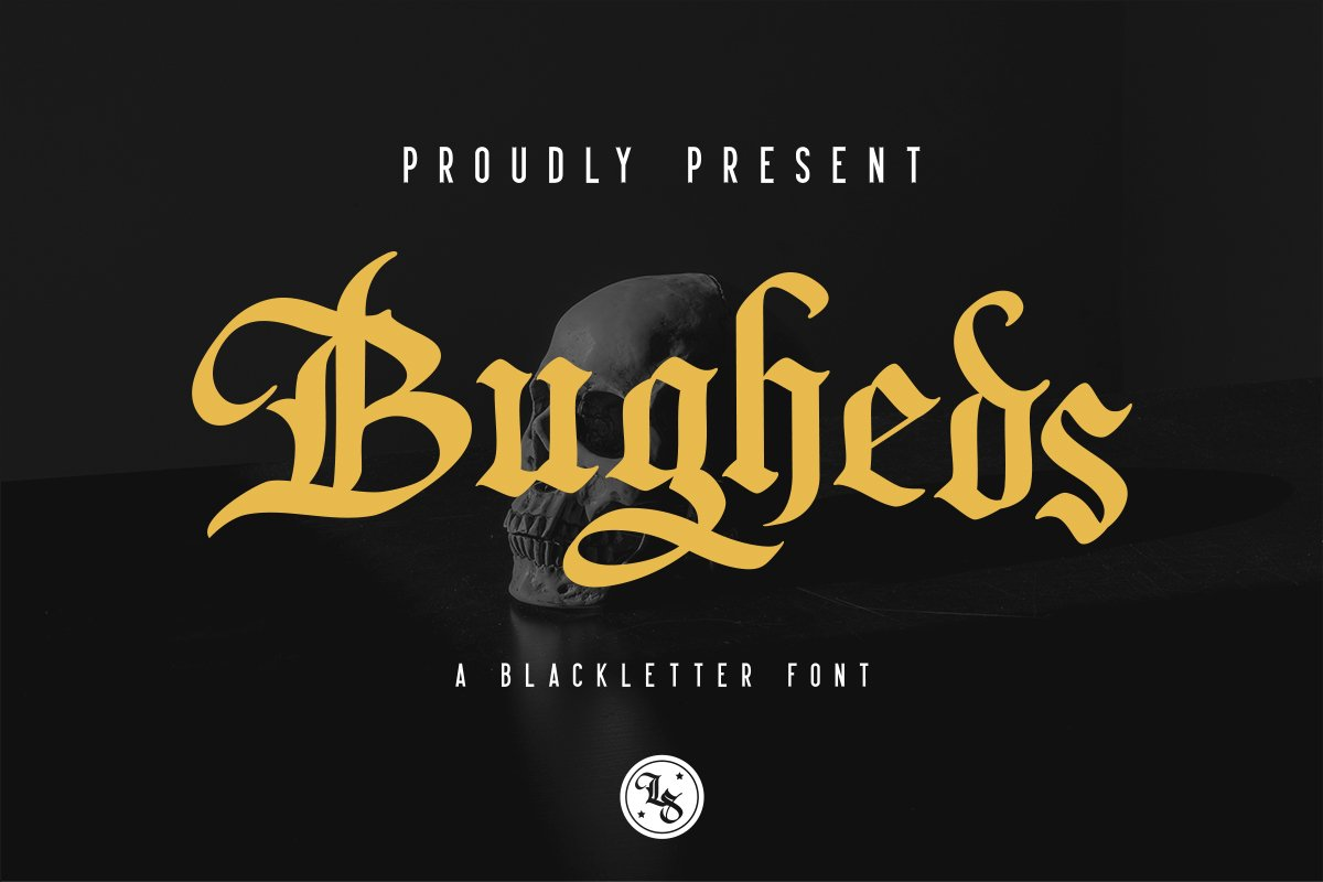 Bugheds - Blackletter Font