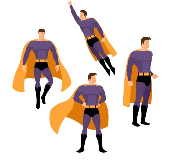 Superhero poses in Graphics