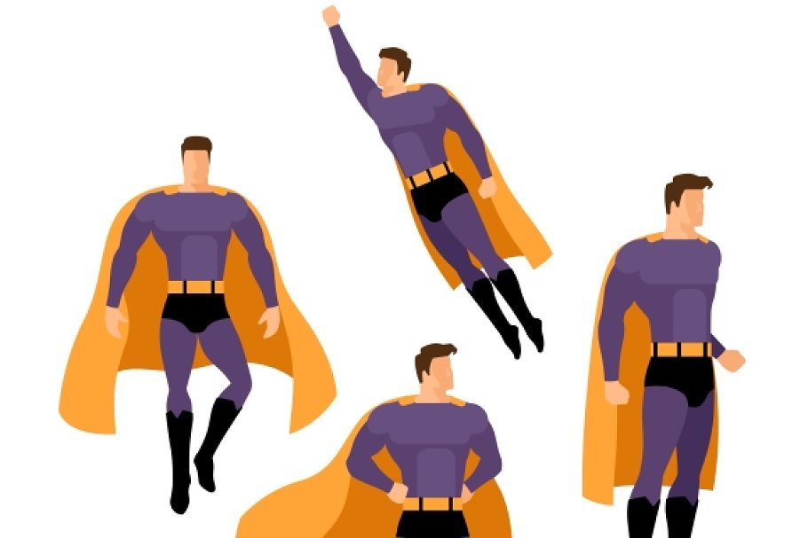 Superhero poses in Graphics - product preview 8