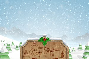 Christmas greeting board