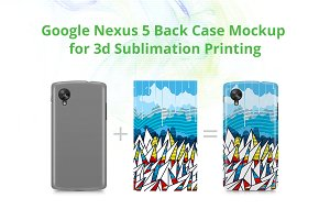 Nexus 5 3d Case Design Mockup