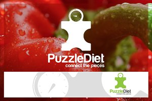 Puzzle Diet Logo Template