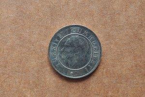 Turkish 25 kurus coin