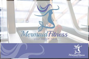 Mermaid - Fitness Logo Template