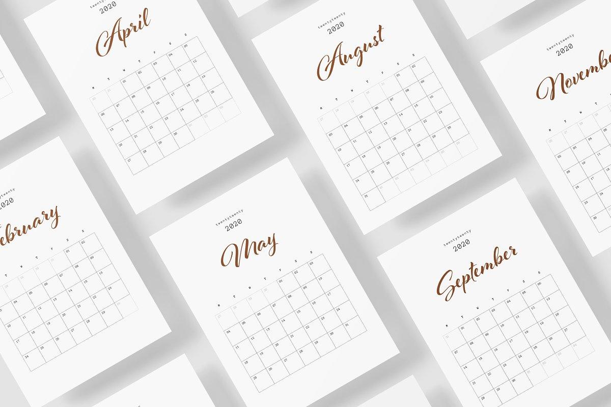 Calendar 2020 Design, Daily Planner