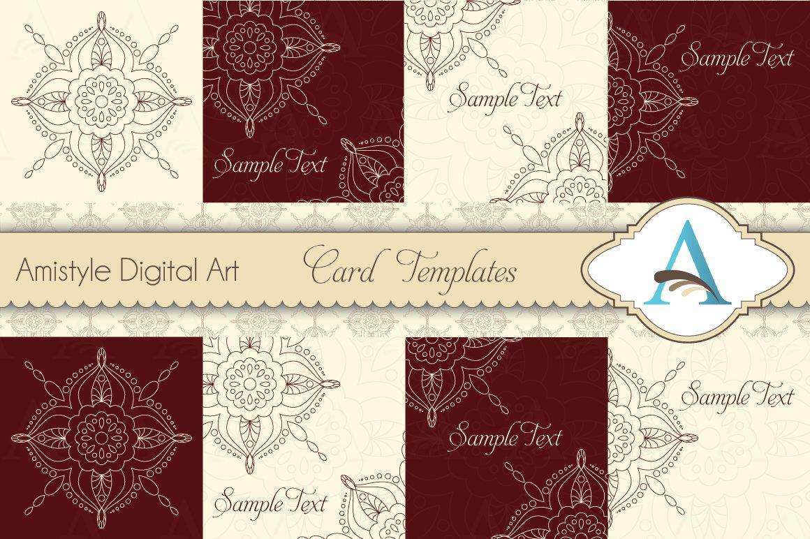 Indian Rangoli Card Templates Creative Market