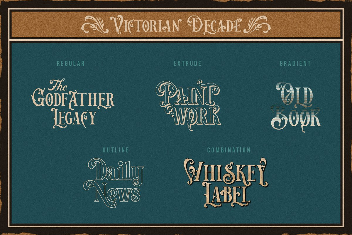Victorian Decade in Serif Fonts - product preview 6