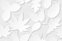 Set of seamless patterns with leaves